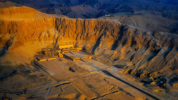 Aerial view of the Temple of Hatshepsut near Luxor, Egypt